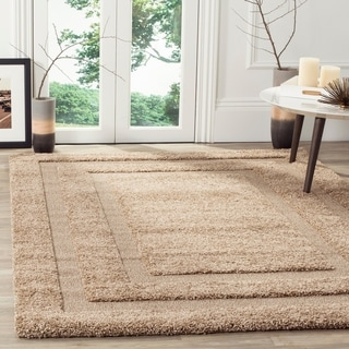 Safavieh Ultimate Shadow Box Shag Beige Rug (8'6 x 12')