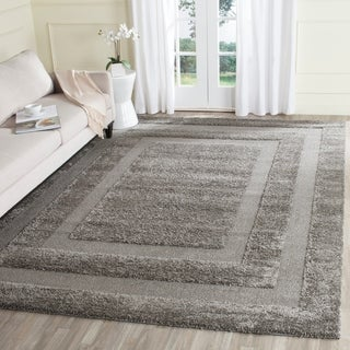 "Safavieh Shadow Box Ultimate Grey Shag Rug (8'6"" x 12')"