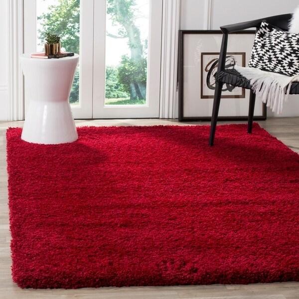 Safavieh California Cozy Plush Red Shag Rug - 6'7 x 9'6