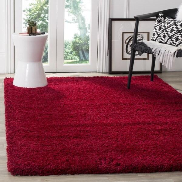 Safavieh California Cozy Plush Red Shag Rug (6'7 x 9'6)