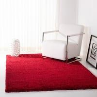 "Safavieh California Cozy Plush Red Shag Rug - 6'7"" x 6'7"" square"
