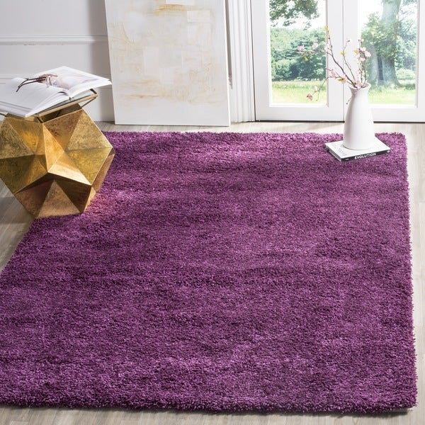 Safavieh California Cozy Solid Purple Shag Rug (6'7 x 9'6)
