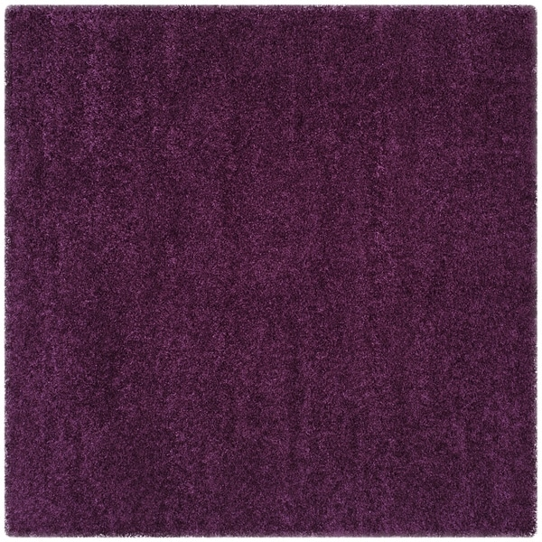 safavieh california cozy plush purple shag rug 6u0027 7 square free shipping today