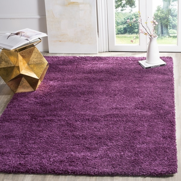 Safavieh California Cozy Solid Purple Shag Rug (8'6 x 12')