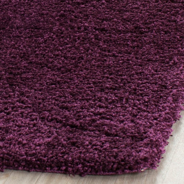 safavieh california cozy plush purple shag rug 8u00276 x 12u0027 free shipping today