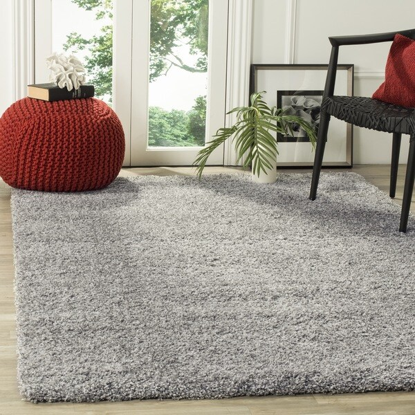 Safavieh California Cozy Plush Silver Shag Rug (3' x 5')