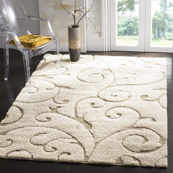 Ultimate Cream/ Beige Shag Rug (8'6 x 12')