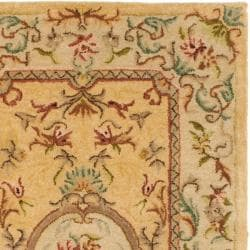 Safavieh Handmade Light Gold/ Beige Hand-spun Wool Rug (3' x 5') - Thumbnail 1