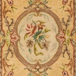 Safavieh Handmade Light Gold/ Beige Hand-spun Wool Rug (3' x 5') - Thumbnail 2