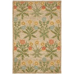 Safavieh Handmade Blossom Beige Pure Wool Rug (4' x 6') - 4' x 6' - Thumbnail 0
