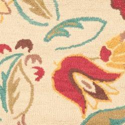 Safavieh Handmade Blossom Paisley Beige Wool Rug (3' x 5')