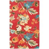 Safavieh Handmade Blossom Red Wool Rug - 3' x 5'