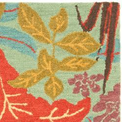 Safavieh Handmade Blossom Blue Wool Rug (3' x 5') - Thumbnail 1