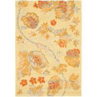Safavieh Handmade Blossom Beige Wool Rug with Cotton Canvas Backing - 4' x 6'