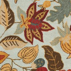Safavieh Handmade Blossom Blue Wool Rug (8'9 x 12')