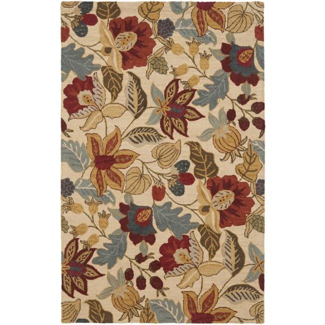 Safavieh Handmade Jardin Foliage Beige/ Multi Wool Rug (8' x 10')