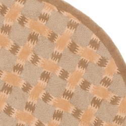 Safavieh Handmade New Zealand Wool Trellis Sage Rug (5' Round) - Thumbnail 1