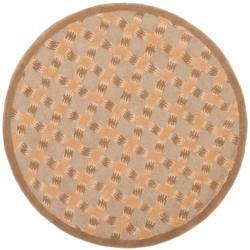Safavieh Handmade New Zealand Wool Trellis Sage Rug (5' Round) - 5' x 5' - Thumbnail 0