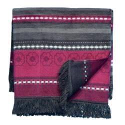 Bocasa Oleana Anthracite Woven Throw Blanket - Thumbnail 1