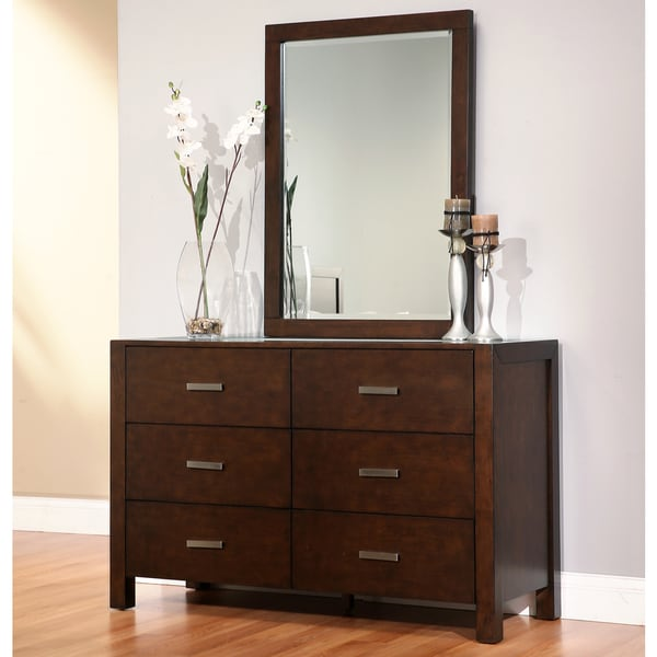 Abbyson Hamptons 6-drawer Dresser with Mirror