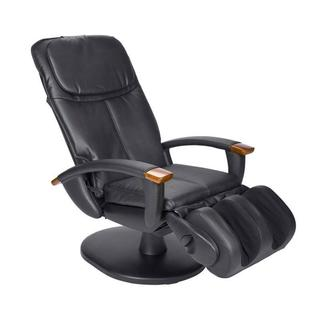 Black Dual Disc Vinyl Human Touch Massage Chair (Refurbished)