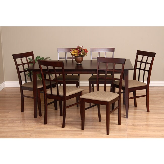 Warehouse Of Tiffany Justin Seven Piece Latte Dining Furniture Set