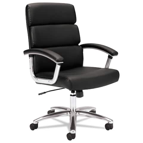 HON Traction Executive Leather Task Chair, Black (BSXVL103SB11)