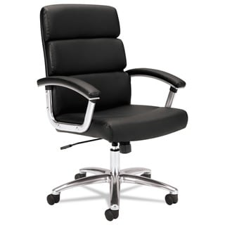 HON Traction Executive Leather Task Chair, Black (BSXVL103SB11)