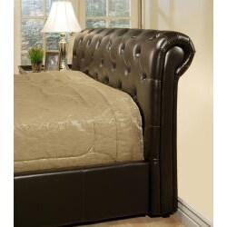 ABBYSON LIVING Delano Dark Brown Bi-cast Leather Full-size Bed
