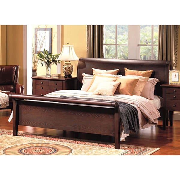 Abbyson Living Novara California King-size Sleigh Bed