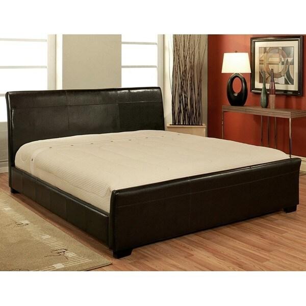 Abbyson Living Monaco Dark Brown Bi-cast Leather Queen-size Bed