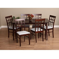 warehouse of tiffany justin seven piece gray dining furniture set: seven piece dining set
