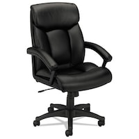 shop basyx by hon vl161 series black leather executive mid back
