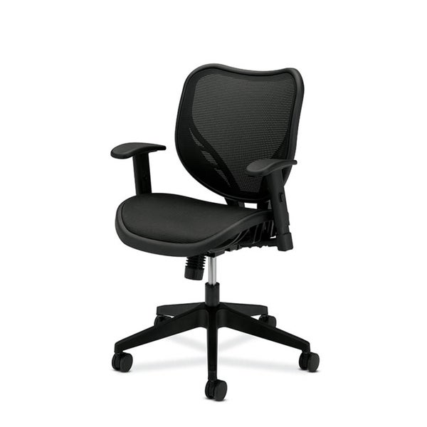 basyx by HON Black Mid-back Mesh Back Work Chair