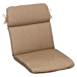 Pillow Perfect Outdoor Tan Rounded Chair Cushion with Sunbrella Fabric