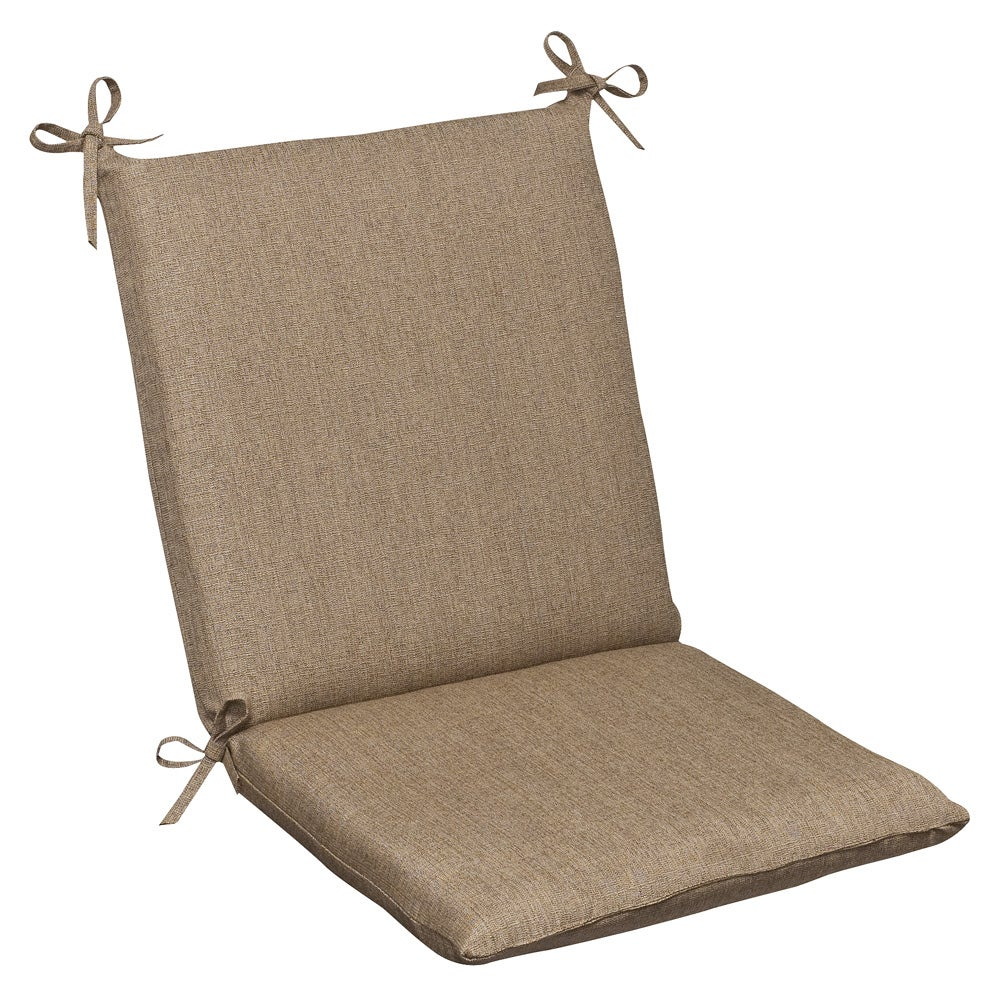 Pillow Perfect Outdoor Tan Textured Chair Cushion With