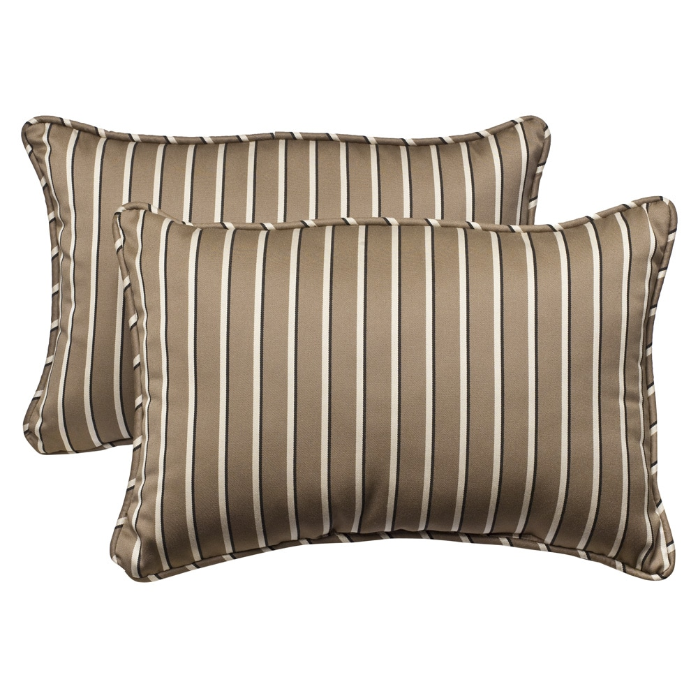 Shop Pillow Perfect Weather Resistant Outdoor Brown Beige