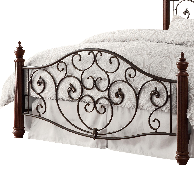Tribecca Home Leann Graceful Scroll Bronze Iron Bed Frame King