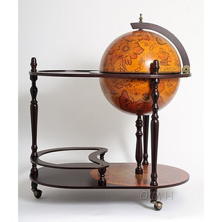 Old Modern Handicrafts Red Globe Drink Trolley