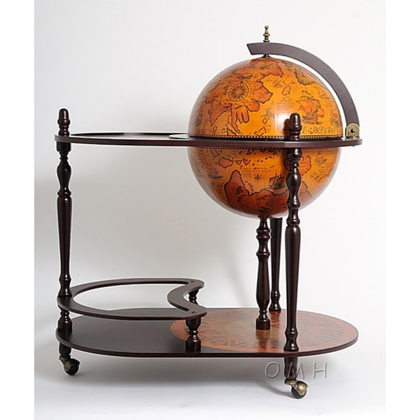 Shop Old Modern Handicrafts Red Globe Drink Trolley Free Shipping