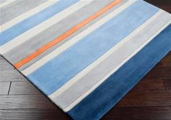 Hand Tufted Grasse Stripe Rug (4'10 x 7') - Thumbnail 1