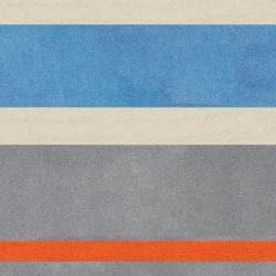 Hand Tufted Grasse Stripe Rug (4'10 x 7') - Thumbnail 2