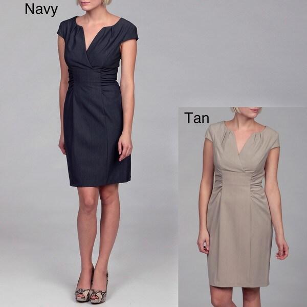 Connected Apparel Women's Tropical Menswear Dress