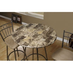Cappuccino Marble Metal Bar Table