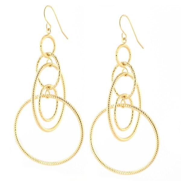Elya Designs Goldplated Interlocked Hoop Drop Earrings