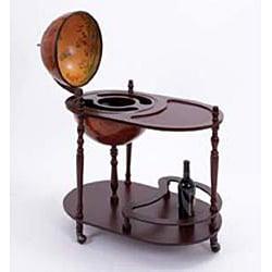 16th Century Style Wood Globe Bar/ Tea Cart - Thumbnail 1