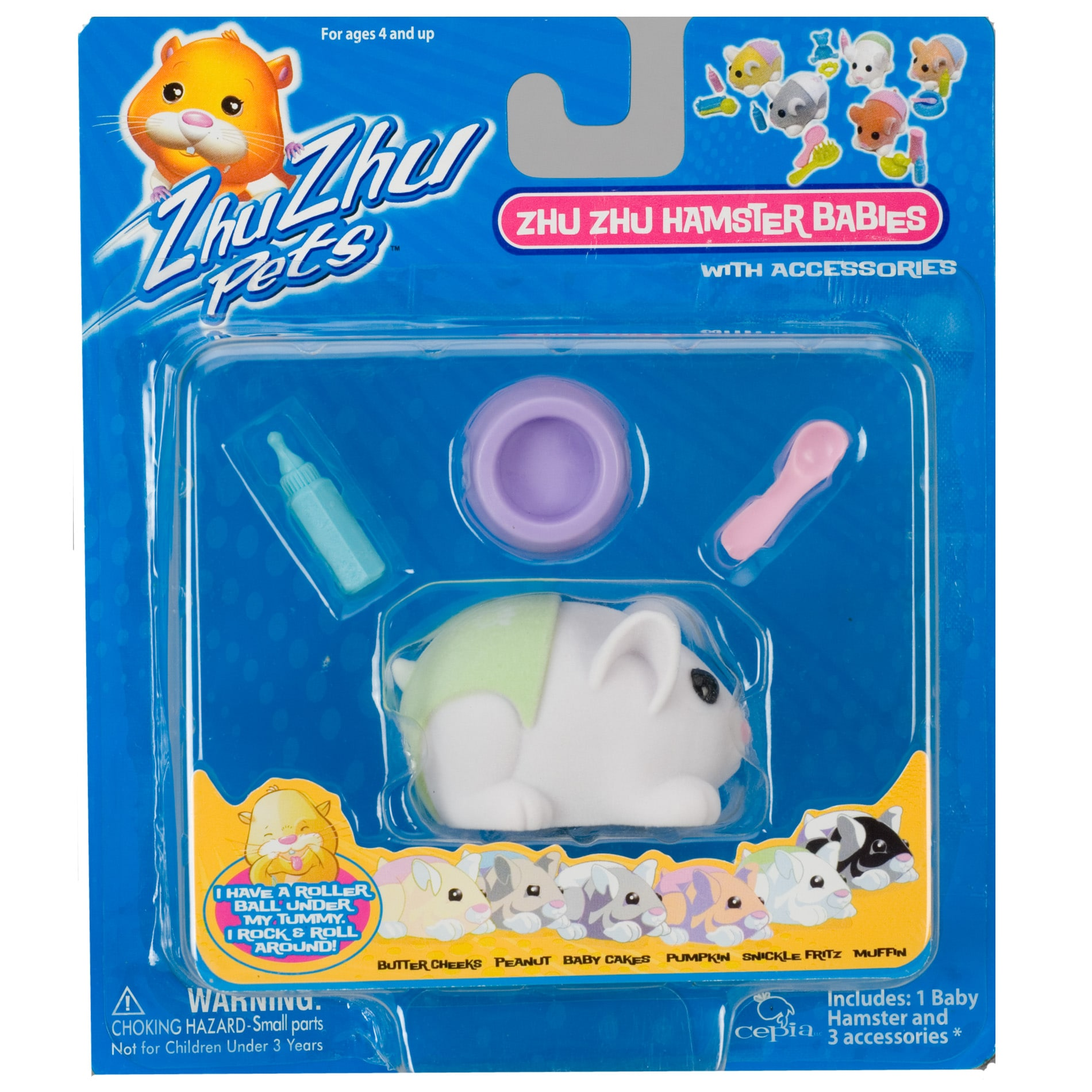 Zhu Zhu Babies  'Snickle Fritz' Toy Hamster