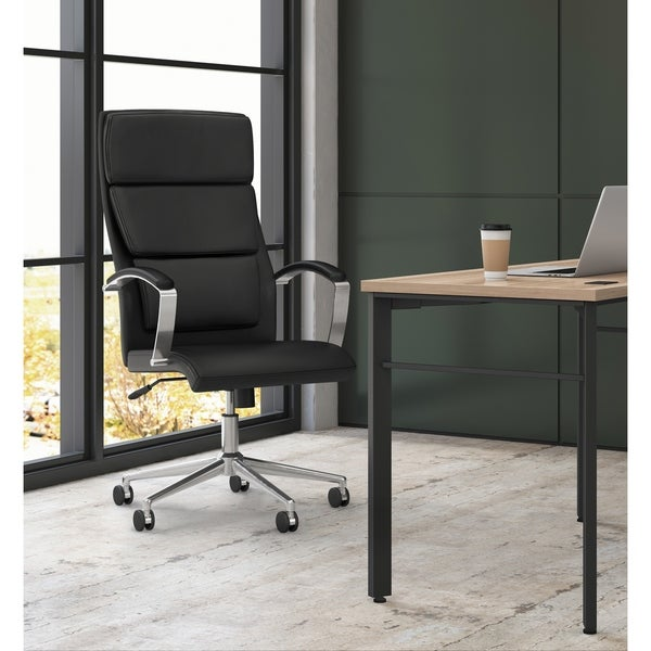HON Executive High-Back Leather Task Chair, Black (BSXVL105SB11)