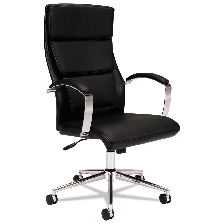 HON Executive High Back Leather Task Chair, Black (BSXVL105SB11)