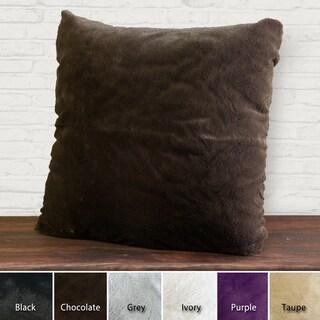 Aurora Home Faux Mink Decorative Pillows (Set of 2)